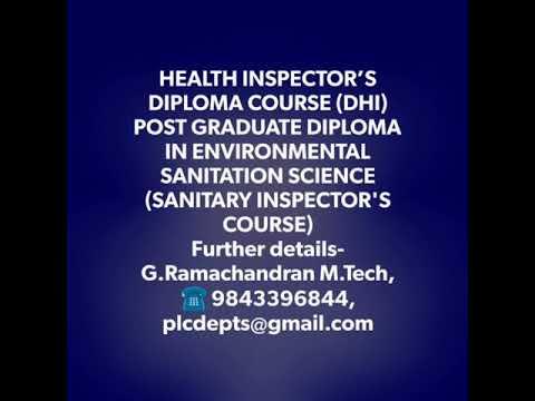 Allied  Health Science vs Sanitary Inspector course in Tamilnadu