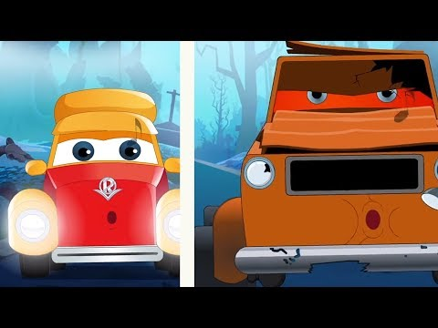 Halloween Videos | Super Car Royce | Cartoons by Kids Channel