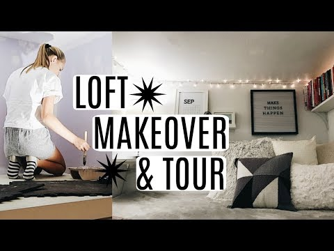 DIY MINIMALIST LOFT MAKEOVER & TOUR!!