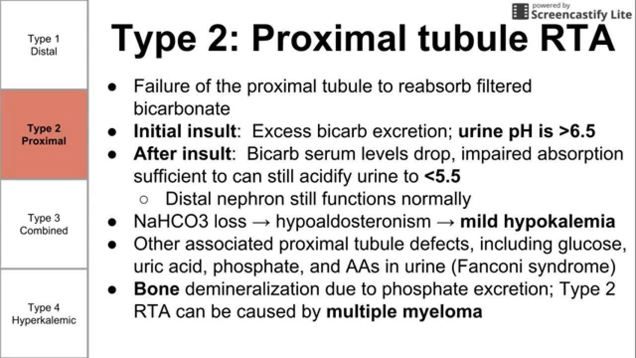 Renal tubular acidosis 77