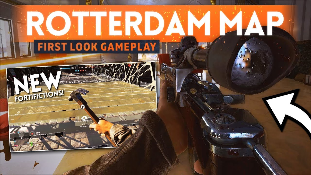 BATTLEFIELD 5 ROTTERDAM GAMEPLAY First Look! - Total Urban Warfare! (New Weapons & Fortifications)