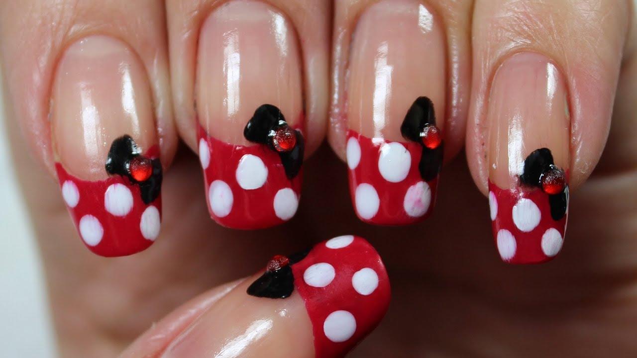 Unha Da Minnie Disney Desenho Infantil Minnie Nail Art