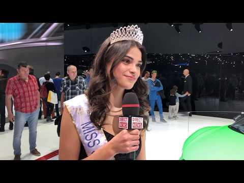 Margaux Matthey-Broto Miss Suisse Romande 2018 au Salon de l'Auto Genève