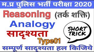 Reasoning class for MP POLICE CONSTABLE & GUARD 2020 (Analogy Type-01) screenshot 2