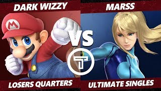 Thunder Smash 3 SSBU - PG Marss (ZSS) VS MVG Dark Wizzy (Mario) Smash Ultimate Losers Quarters
