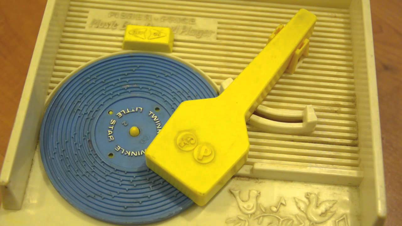 Vintage Fisher Price Toy Music Box Kids Record Player playing Twinkle Twinkle Little Star - YouTube