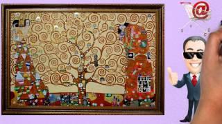 "Video Gustav Klimt ""The Tree of Life"" Art Reproduction Art on Canvas Oil Painting - GFMPainting.co.uk download MP3, 3GP, MP4, WEBM, AVI, FLV Agustus 2018"