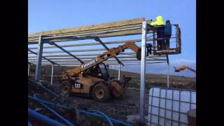 Building a cattle shed time-lapse with S.Torbet Plant Hire + Luce Bay Plant Hire