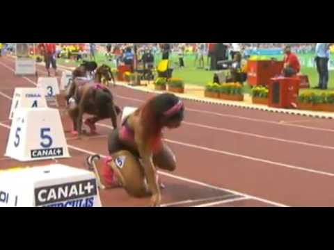 Murielle Ahoure beats Shelly-Ann in 200m at Monaco Diamond League 2013 in National Record of 22.24