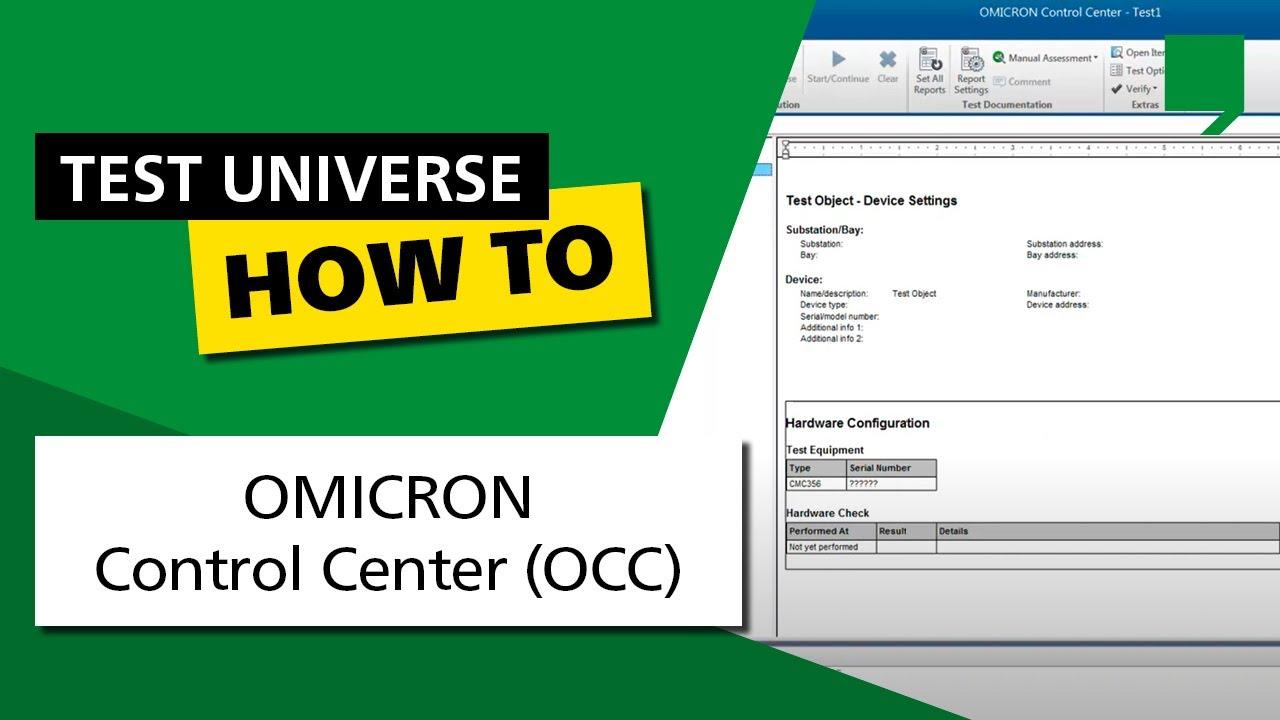 Download OMICRON Control Center (OCC)