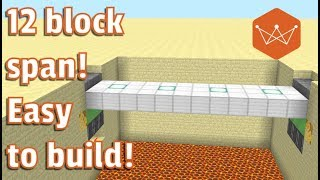 Minecraft Tutorial: How to build a working drawbridge 3x12 (PS 3/4 and Java Only)