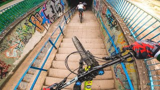 URBAN DOWNHILL MTB Street Tour JENA, GERMANY - Lukas Knopf