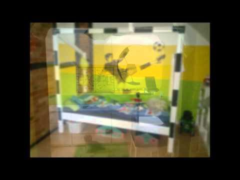 Kinderzimmer Ideen Junge 3 Jahre : Fußball Kinderbett - YouTube
