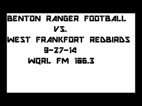 Benton Ranger Football vs. West Frankfort 9-27-14