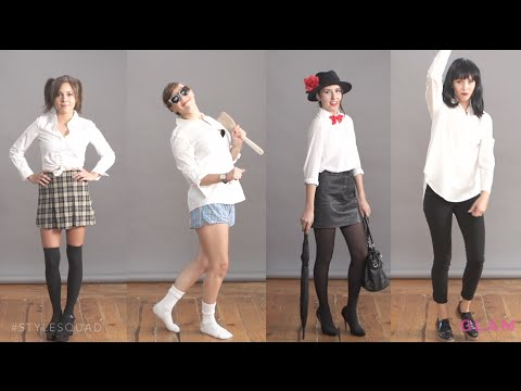 DIY Halloween Costumes Using a White Button-Down | Style Squad ★ Glam.com