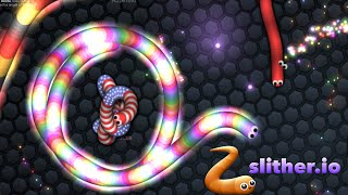 Slither.io World Record Highest Score Challenge Multiplayer Online Game! Similar to Agar.io thumbnail