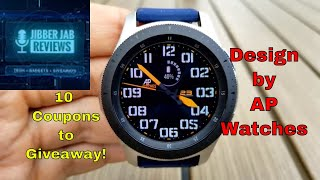 Samsung Galaxy Watch/Gear Watch Face by AP Watchfaces - 10 Coupons to Giveaway!  Jibber Jab Reviews!