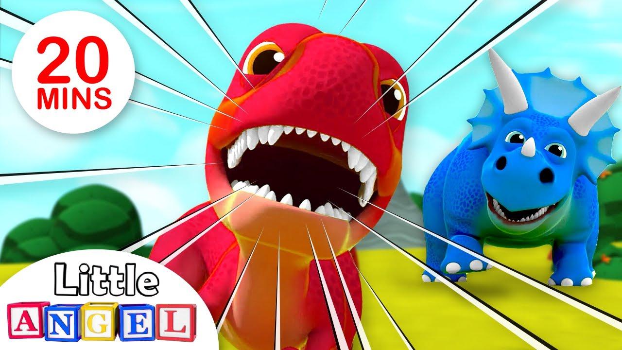 Somos Dinosaurios, Tiburón Bebé (Baby Shark Dance)| Canciones Infantiles | Little Angel Español