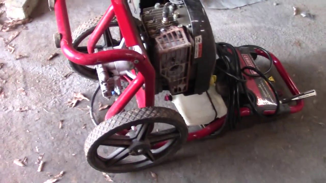 Craftsman Pressure Washer Repair Youtube