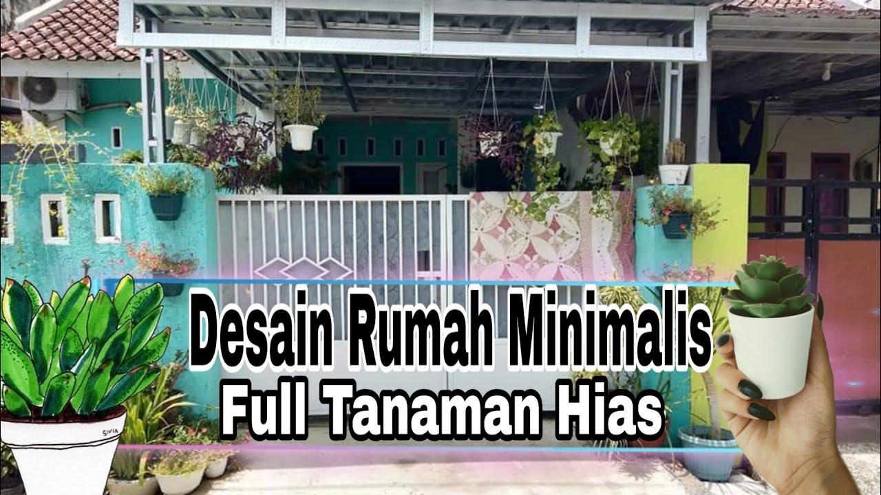 Dekorasi Rumah Minimalis Full Tanaman Hias Youtube