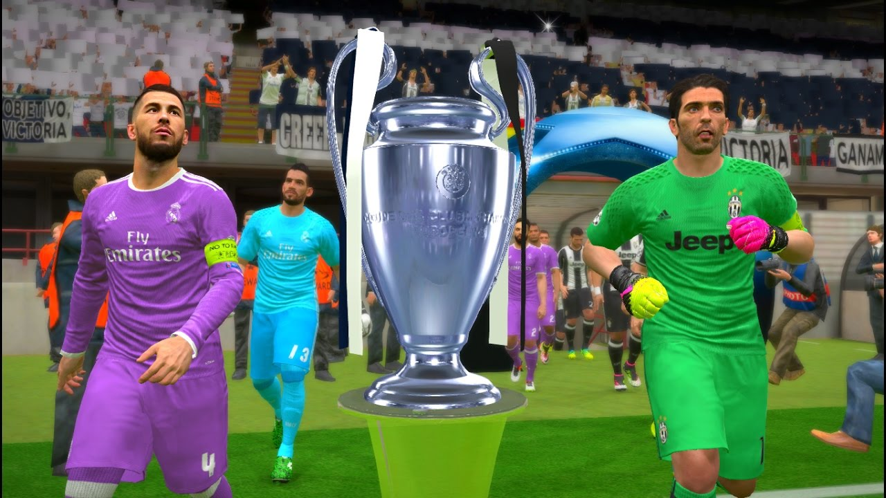 Uefa Champions League Final Juventus Vs Real Madrid Pes Gameplay Pc Youtube