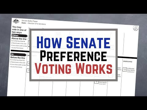 How Senate Voting Preferences Work In An Australian Federal Election