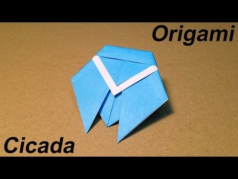 How to Make a Paper Insects / Origami Cicada / Easy for Children