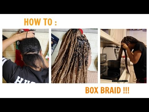 How To Box Braid  Protective Style