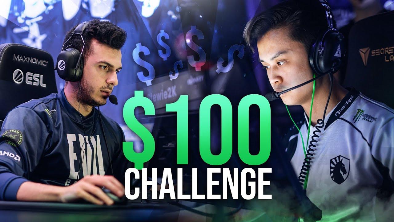 TARIK VS STEW FOR $100 CHALLENGE