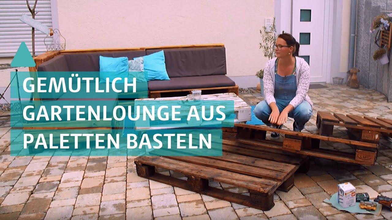 Paletten Sofa selber bauen