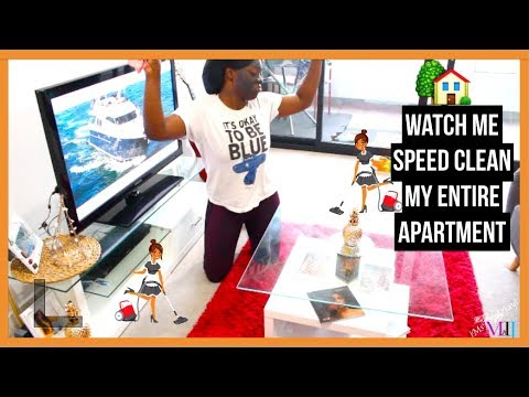 CLEAN WITH ME:  WATCH ME CLEAN MY APARTMENT | MsTopacJay