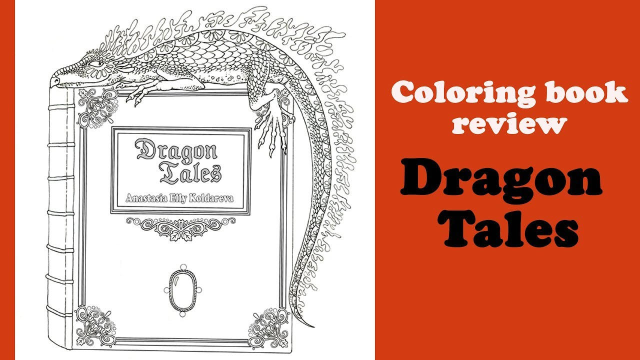 Dragon Tales Coloring Book Review And Flip Through