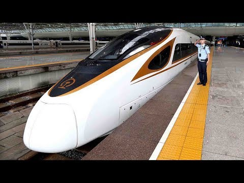 Bullet trains lead and promote China
