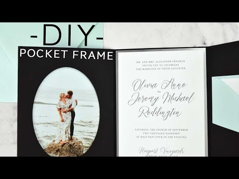 DIY Elegant Wedding Invitations With Pictures