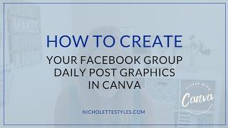 كيفية إنشاء الخاصة بك Facebook الفريق اليومية بعد الرسم في Canva