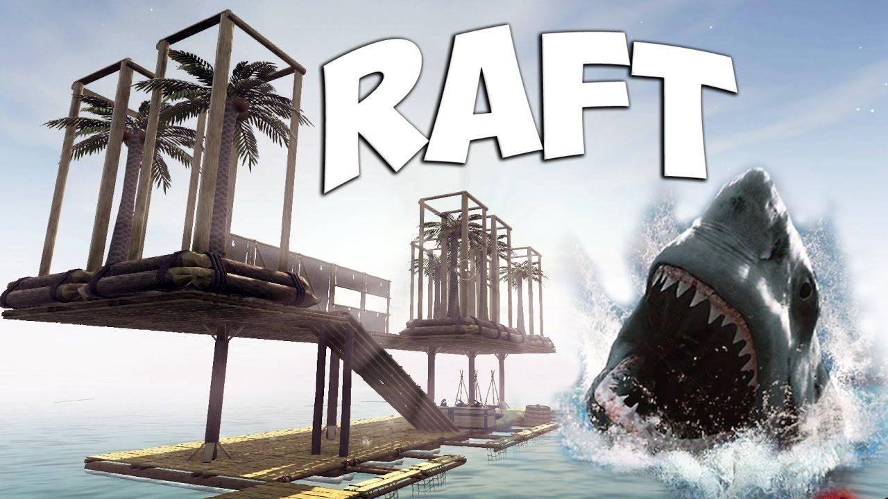 SHARK ATTACK | Let's Play Raft Part 1 | Raft building - Shark eating  survival simulator | Gameplay