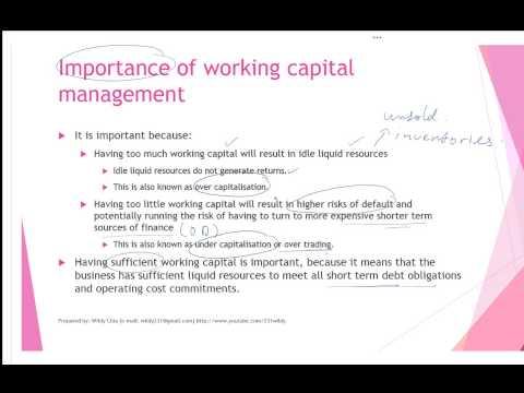 Working capital management - Part 1