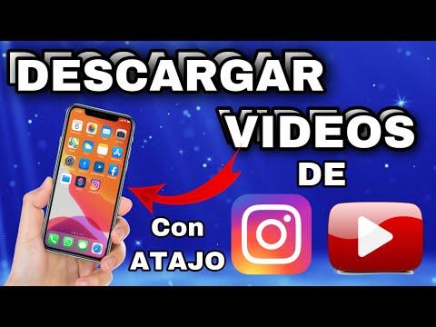 COMO bajar VIDEOS de INSTAGRAM y YOUTUBE con Atajos en el iphone