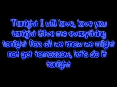 Give me everything tonight lyrics