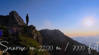 SONNENAUFGANG auf 2200m Höhe | NACHTWANDERUNG auf den Pilatus, Luzern, Schweiz | 1st Vlog in German