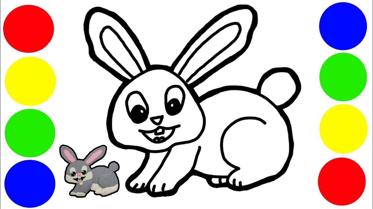 Menggambar Dan Mewarnai Kelinci Lucu Dari Mainan Lilin Play Doh Plastisin
