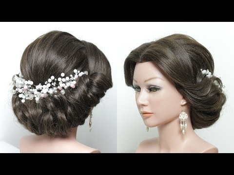 Elegant Updo Hairstyle Tutorial For Medium Long Length Hair