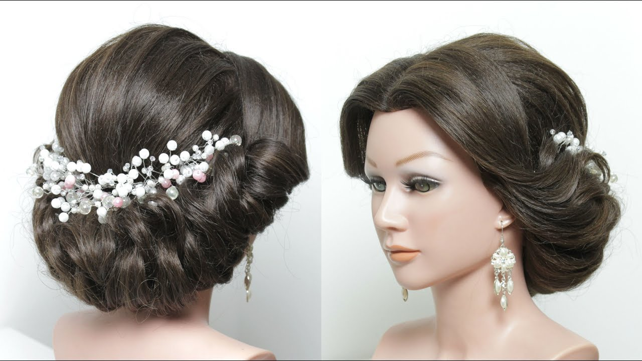 Beautiful Bridal Hairstyle For Long Hair: Beautiful Wedding Bridal Hairstyle For Long Medium Hair