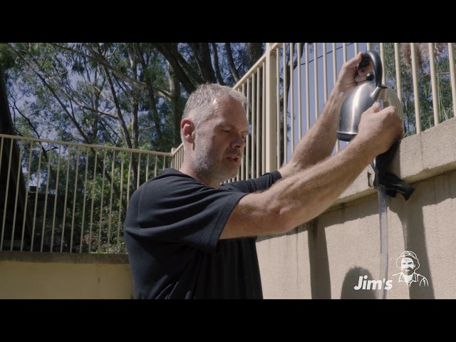 How to get a level on an uneven wall with Tim from Jim's Handyman - www.jims.net - 131 546
