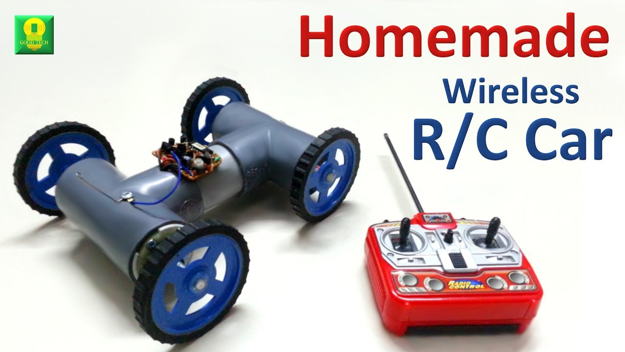 How To Make Wireless Remote Controlled Car At Home Power Antenna Motorcar Wiring Diagram Toy4kids Goodtech Diy Toys