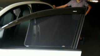 Автошторки на Volkswagen Polo для защиты от солнца(Артем из Москвы приобрел в начале августа укороченный вариант автошторок, что позволяет поддерживать четк..., 2014-08-14T10:06:55.000Z)