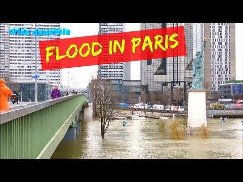 Le Fleuve Déborde ; Pont de Grenelle ; Crue 2018 ; Paris ; La Seine ; France