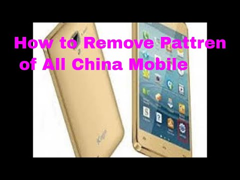 How to Remove Pattern China SPD Mobile(Kagoo-Y900) 100% With Miracle