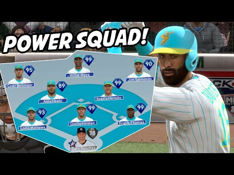 ALL POWER SQUAD 90+ POWER EVERYWHERE - MLB The Show 19 Diamond Dynasty