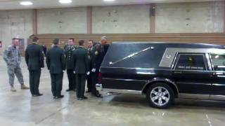 Military funeral Hearse practice